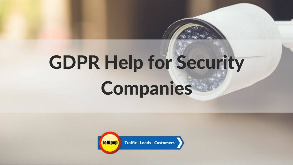 GDPR Help For Fire and Security Installers
