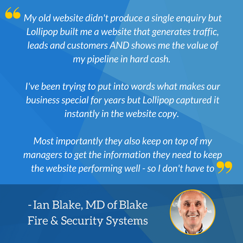 Ian Blake Final Testimonial for Impact Award