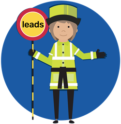 Lollipop Lady-250x250 With Circle & Sign & Karate Belt & Leads 250x250