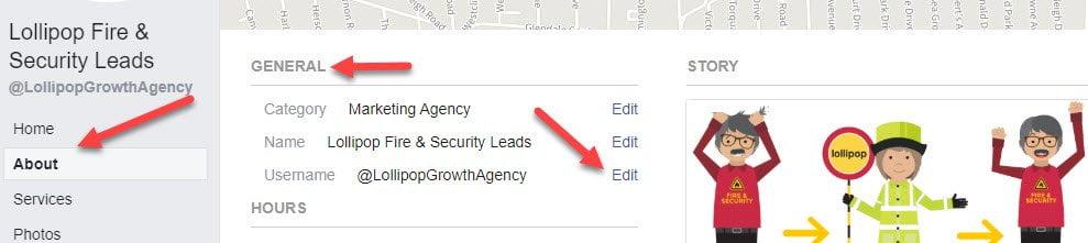 create-custom-url-fire-security-facebook-page