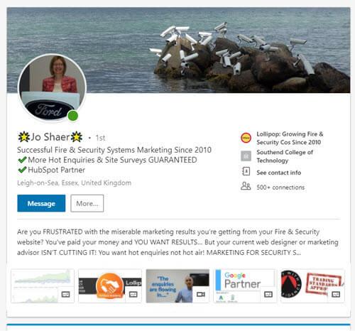fire-security-linkedin-profile-headline-rich-media