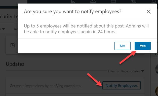 notify-employees-linkedin-company-page-post
